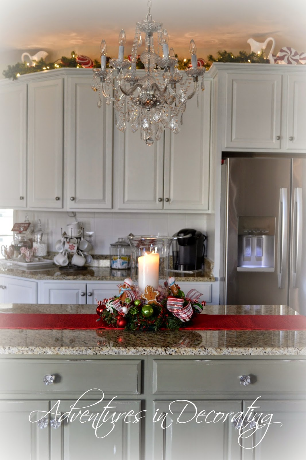adventures in decorating our 2014 christmas kitchen. Black Bedroom Furniture Sets. Home Design Ideas