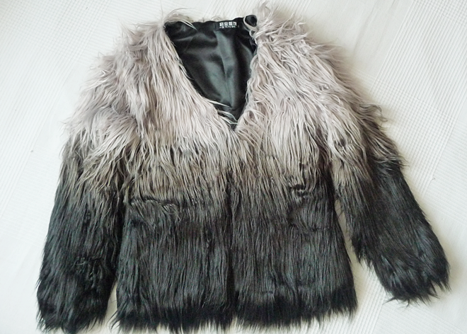 sammydress.com faux fur coat and brown purse