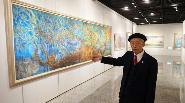 醫師畫家「頌讚寶島」 趙宗冠巨幅創作展