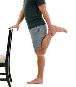 quad stretch for knee pain