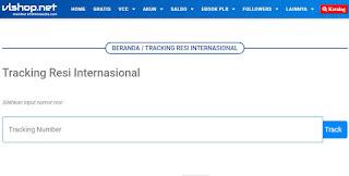 cari contoh script untuk widget resi internasional di blogspot
