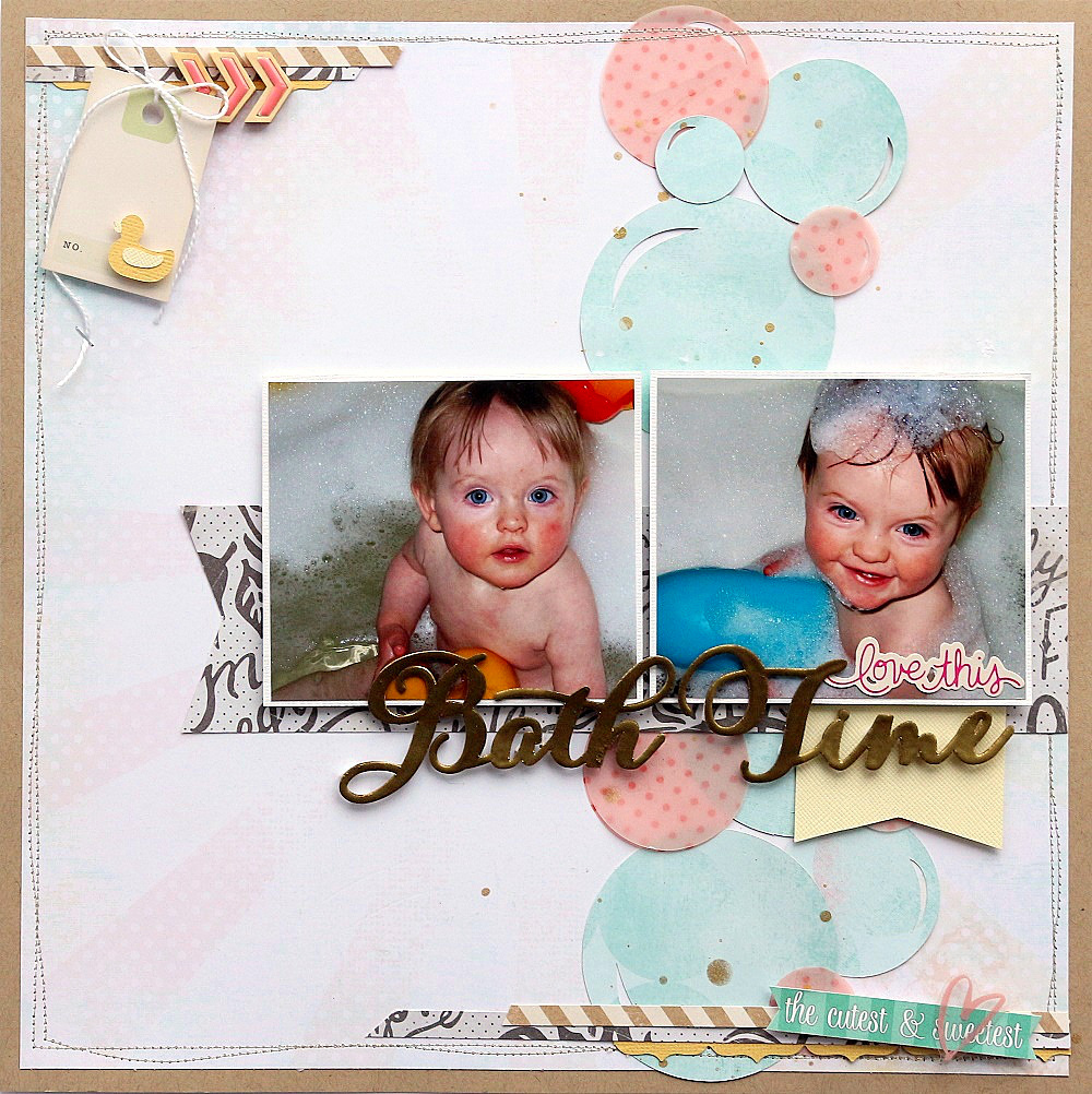 Bath Time Scrapbook Page by Sarah Webb Guest Designer for 17turtles Digital Cut Files
