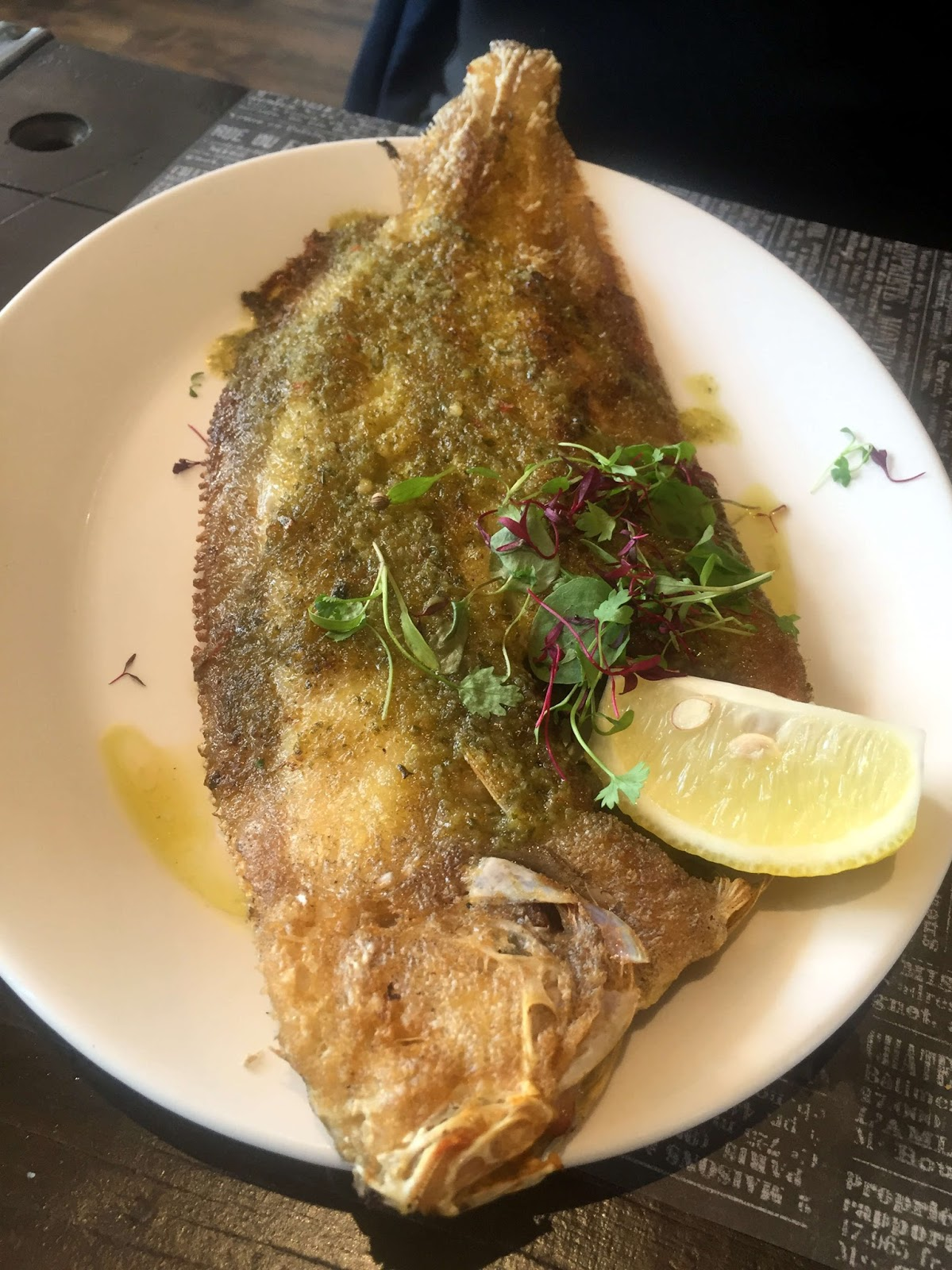 Stitch & Bear - Fishbone - Grilled lemon sole