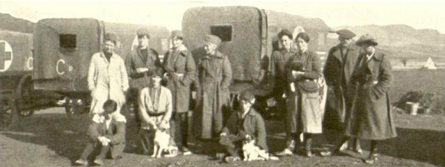 Katherine Harley with the Transport unit in Thessaloniki