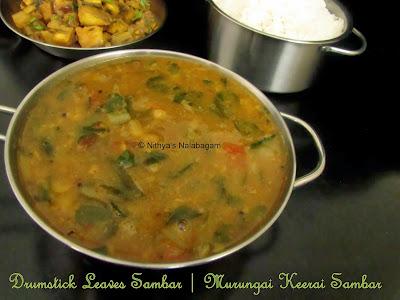 Drumstick Leaves Sambar | Murungai Keerai Sambar