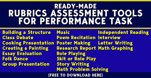 Ready-Made Rubric Assessment Tools for Performance Task