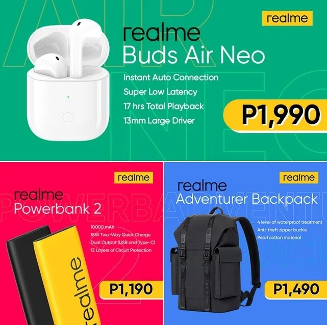 realme launches tech-lifestyle smart accessories - Buds Air Neo, Powerbank 2, and Adventure Backpack