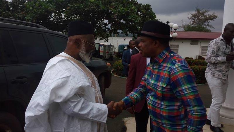 Former Nigerian leader Abdulsalami Abubakar visits Governor Obiano in Awka