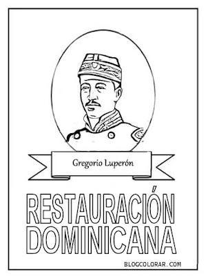 Colorear Gregorio Luperón Restauración