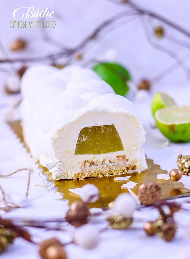buche citron noix de coco noel recette facile