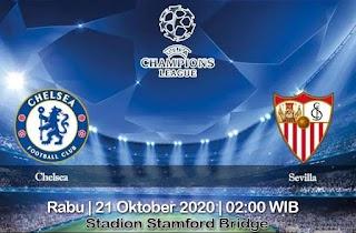 Prediksi Chelsea Vs Sevilla 21 Oktober 2020