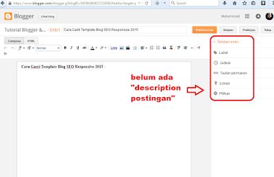 cara memunculkan deskripsi penelusuran pada postingan blog