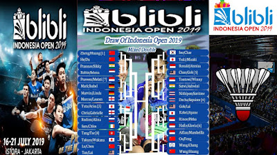 Full Drawing BLIBLI INDONESIA OPEN 2019