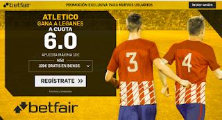 betfair supercuota Atletico gana Leganes Liga 30 septiembre