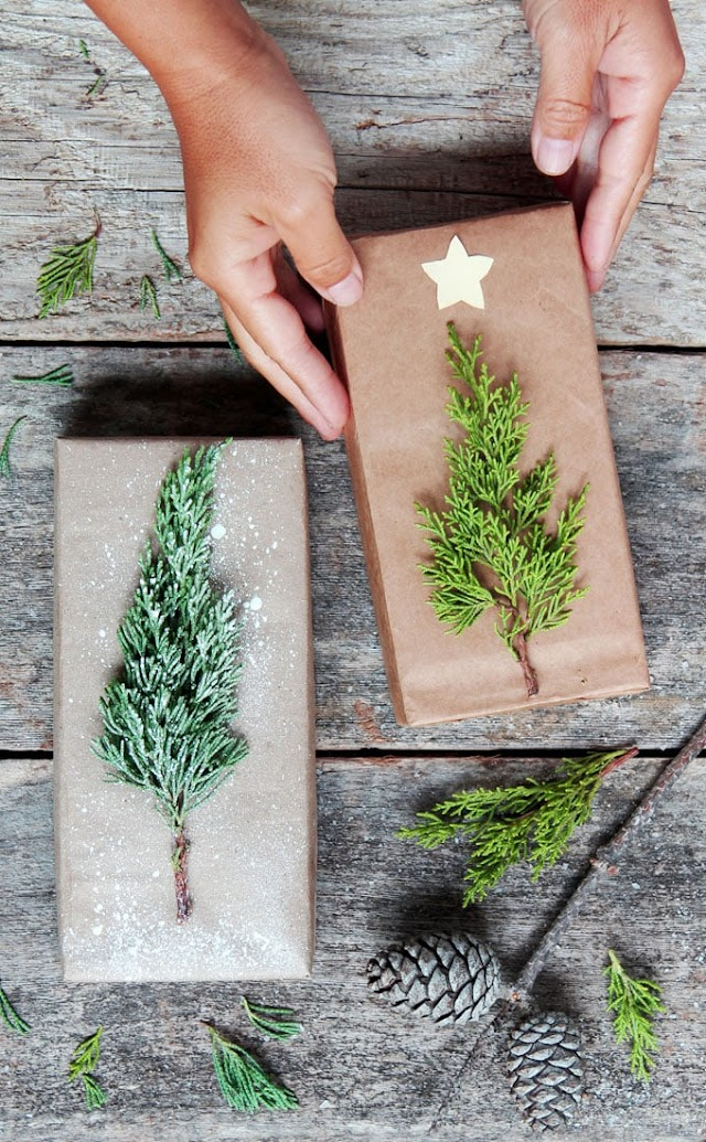 Easy christmas gift paper ideas