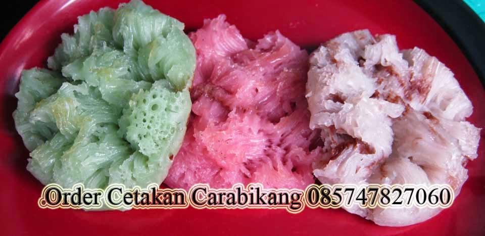 resep kue carabikang alias kue bikang ada di syahidah toko online