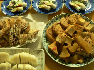 サバ竜田揚げ 煮物 魚肉サラダ アブ浅漬け