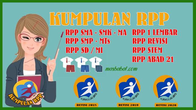 RPP 1 LEMBAR KURIKULUM 2013 TAHUN 2021