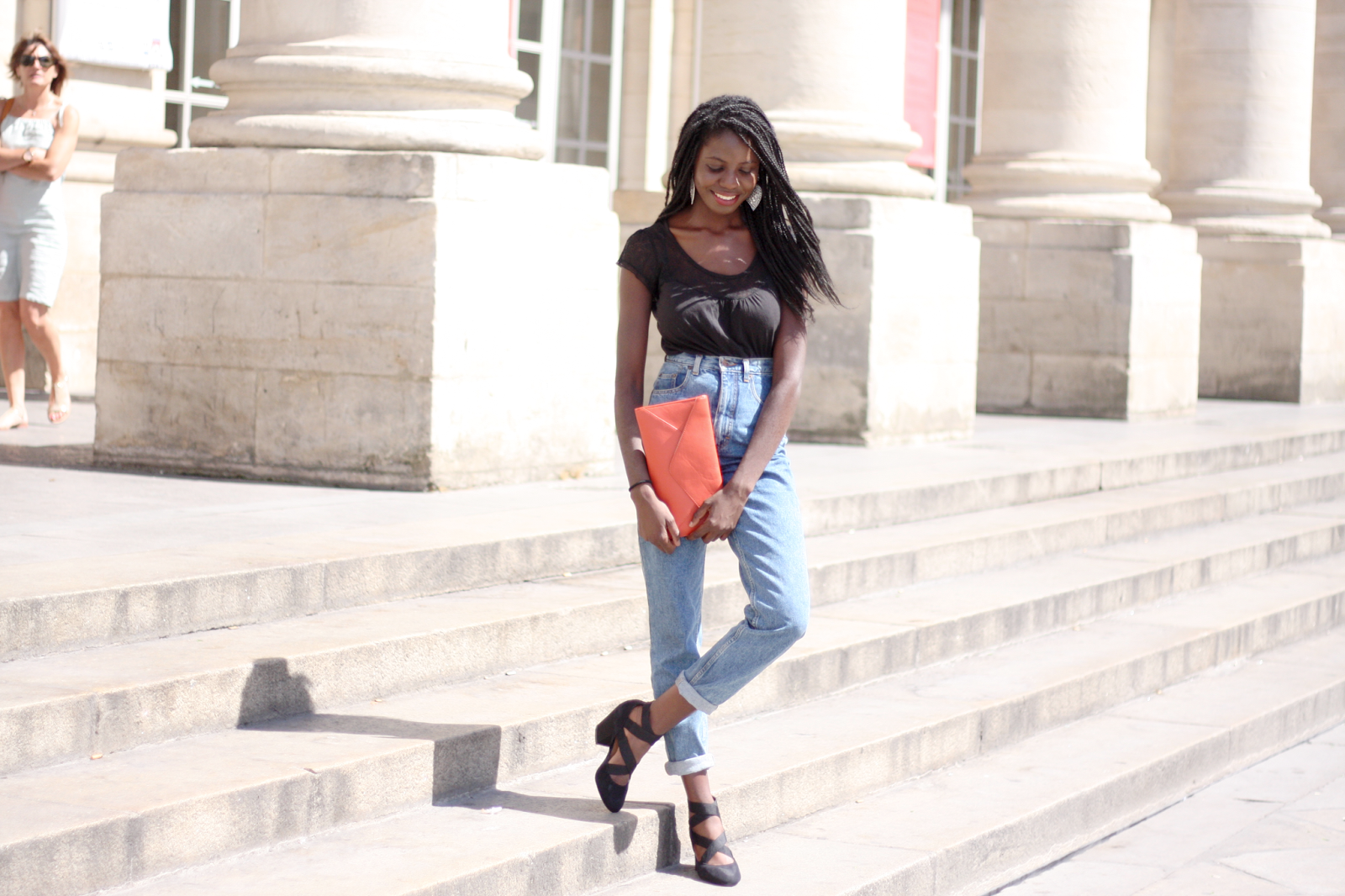 blog mode, blog mode bordeaux, blogueuse mode bordelaisen, tenue du jour, vintage jean, miss selfridge shoes, french fashion blogger, blogger, blogueuses mode, blogueuse mode noire, olivia bordeaux, olivia blogueuse, olivia blogueuse mode, orange, black, jean, grand théâtre, grand théâtre bordeaux, place de la comédie, place de la comédie bordeaux