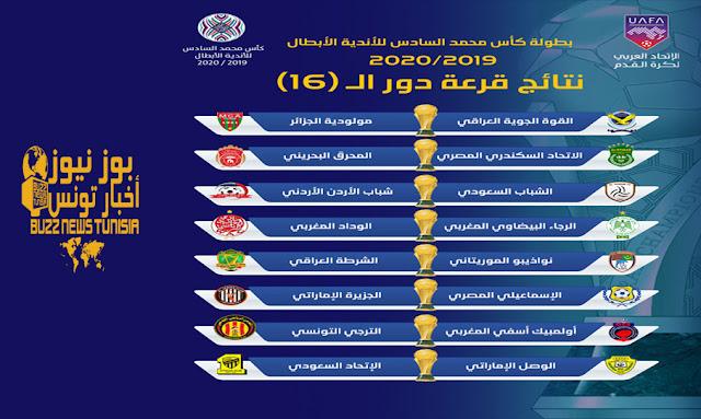 قرعة كأس محمد السادس للأندية الأبطال في دور الـ16