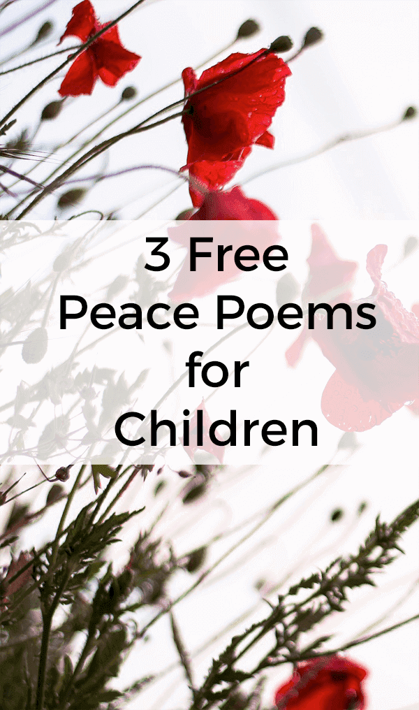 3 peace poems for young children. They're perfect to use for Remembrance Day.