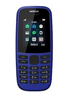 Nokia 105 2019 (Single SIM Blue)