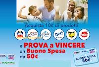 Logo Vinci buoni spesa Acqua&Sapone da 50€ con Duck, Mr.Muscle, Glade, Oust,Raid e Autan