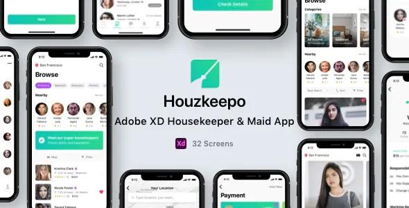 Best Adobe XD Housekeeper & Maid App