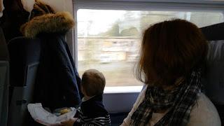 Der Familienbereich im ICE der Deutschen Bahn unterscheidet sich nicht von anderen Abteilen