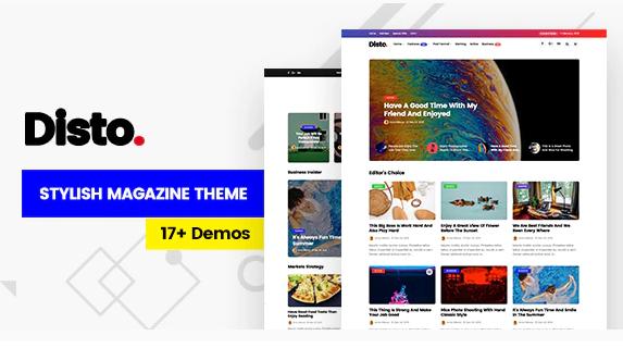 Disto Theme WordPress Magazine Responsive