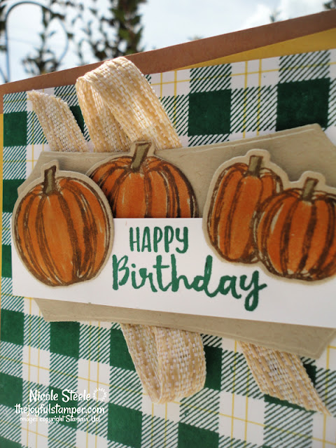 gather together, buffalo check, plaid, pumpkins,  fall, guy cards, masculine, birthday cards, handmade cards, stampin' up!, nicole steele, the joyful stamper, independent stampin' up! demonstrator, pittsburgh pa