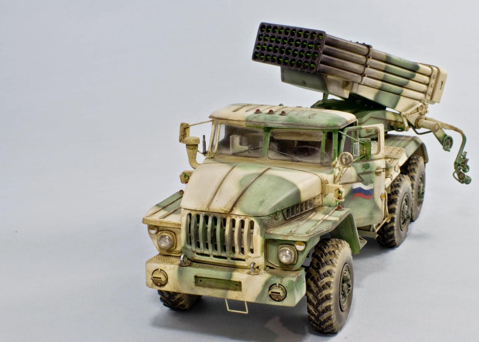 scale modeling by iv n loera ural 4320 bm 21 rocket launcher. Black Bedroom Furniture Sets. Home Design Ideas