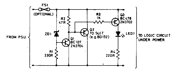Over voltage Protection for Logic Circuit Diagram