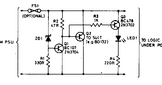 555 flip flop leds circuit diagram
