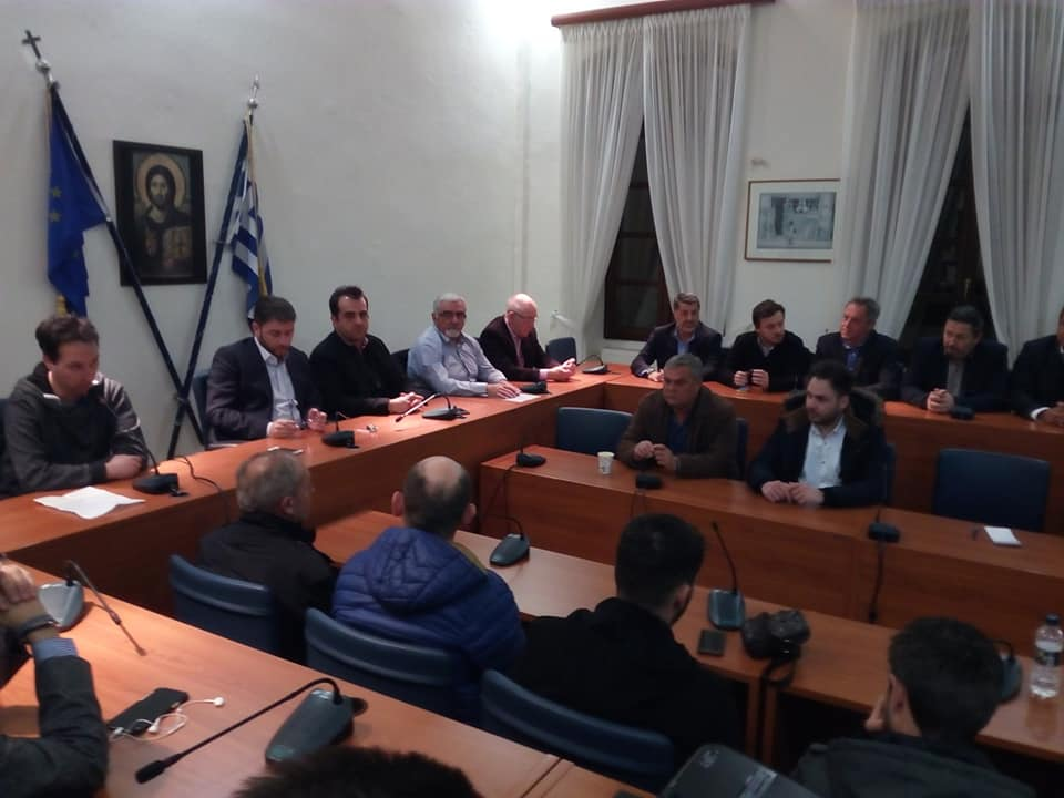 Ο Ευρωβουλευτής Νίκος Ανδρουλάκης στον τον Πολύγυρο της Χαλκιδικής