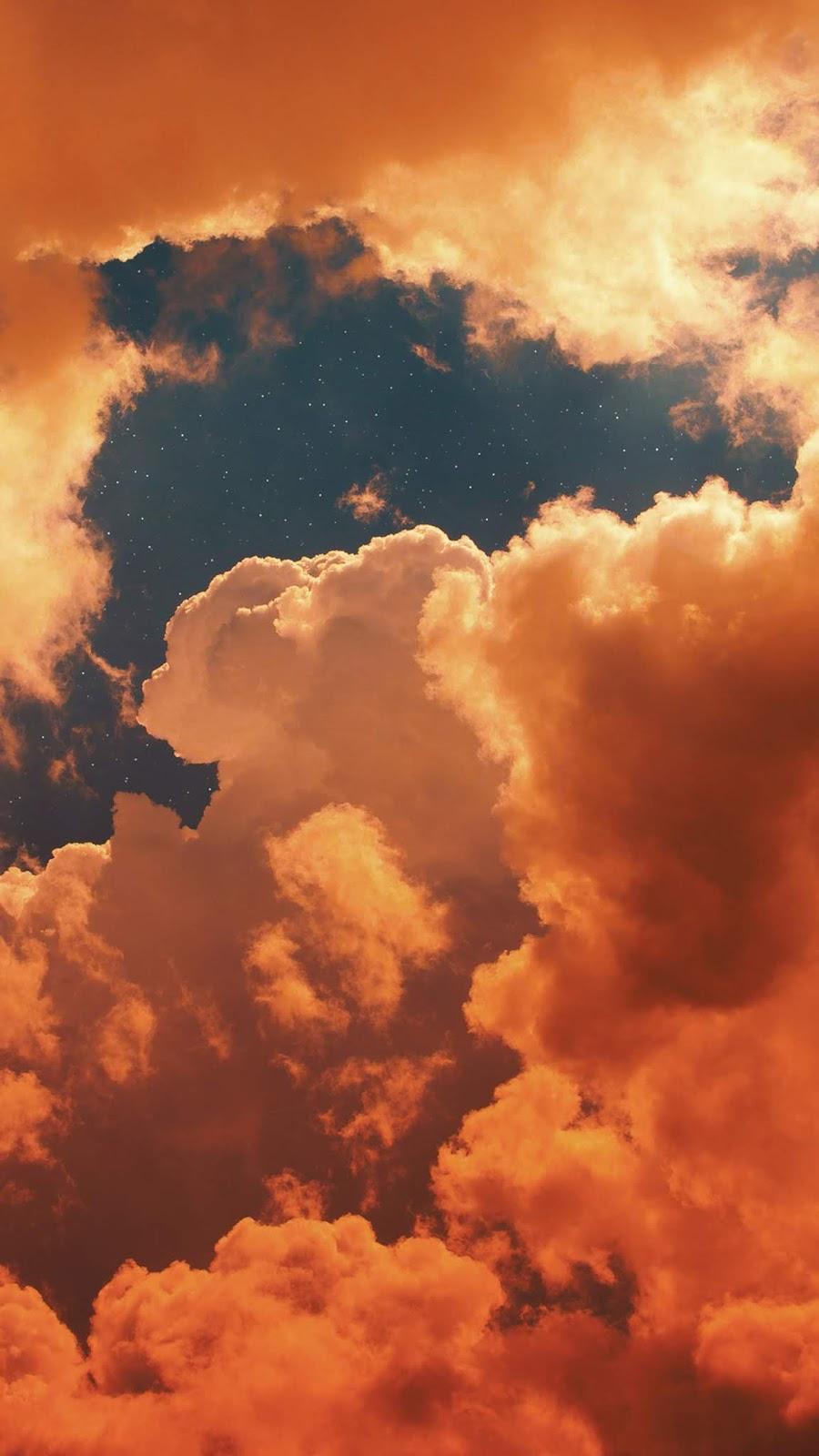 Sunset cloudy sky