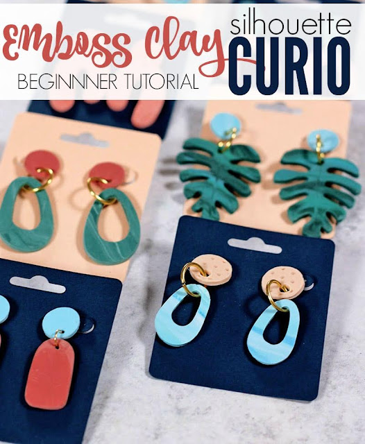 silhouette 101, silhouette america blog, silhouette curio, beginner tutorial, emboss clay