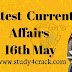 Latest Current Affairs 16th May 2020