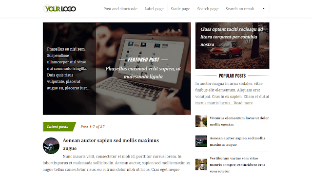 Fresh Optimz v.6 (6.30) Template Blogger
