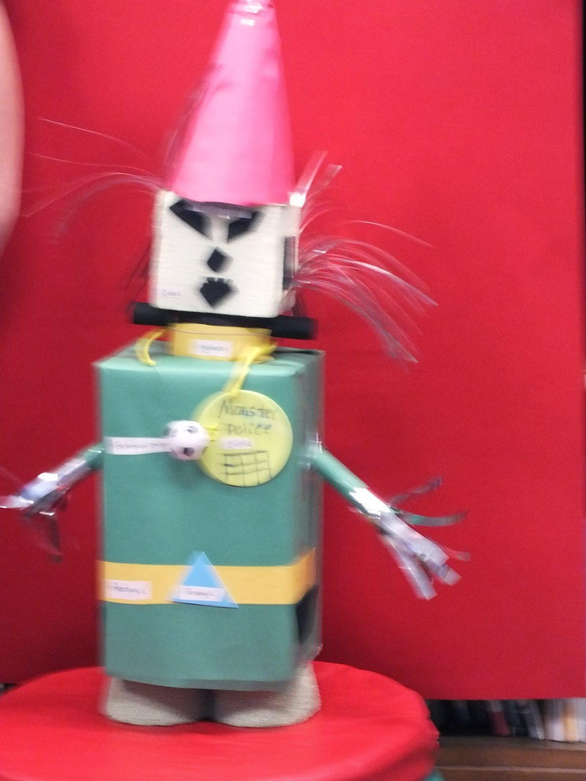Geezy S 2nd Grade 3 Dimensional Robot Projects
