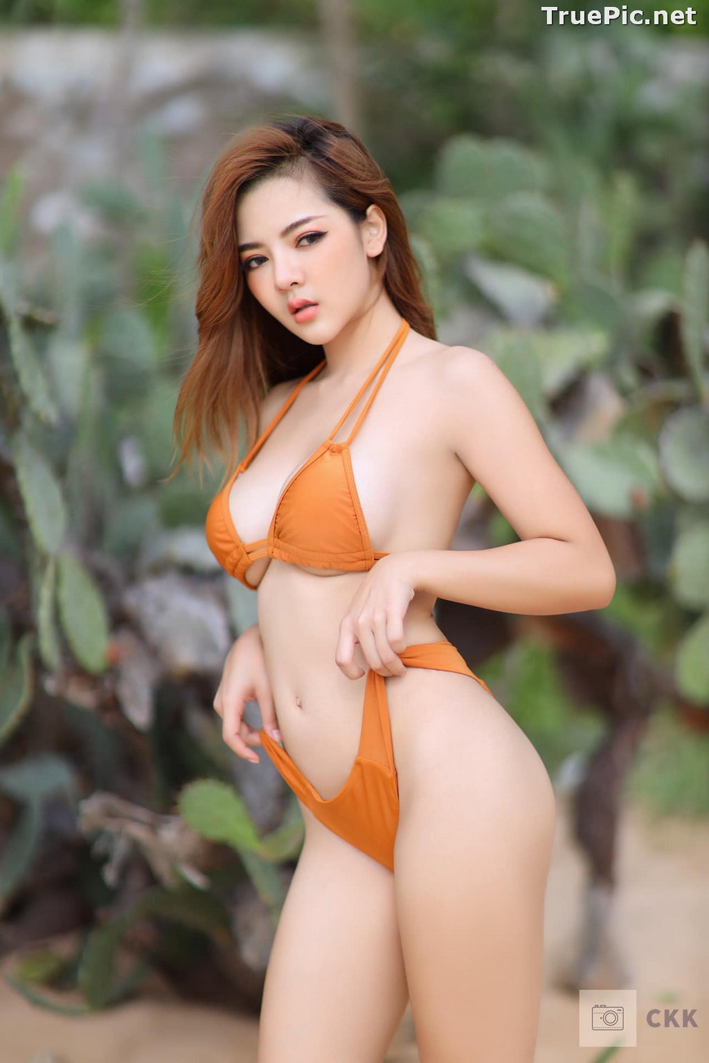 Image Thailand Model - Montakan Kaengraeng - Sexy Orange Bikini - TruePic.net - Picture-7