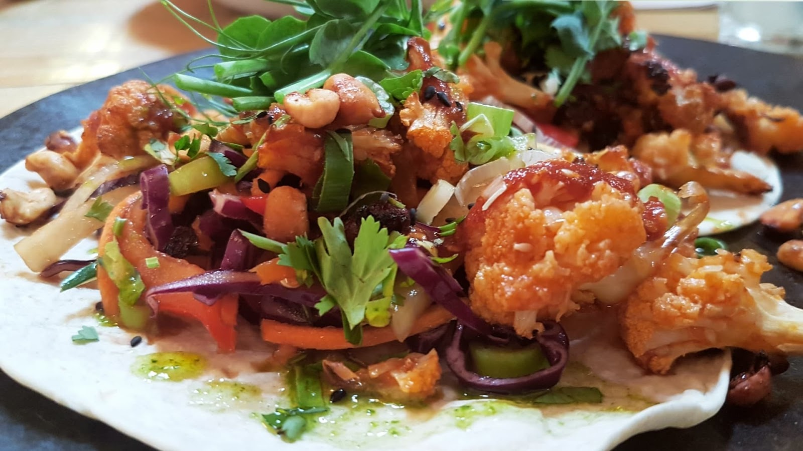 Wild Thyme cauliflower tacos - best Norwich vegan restaurants