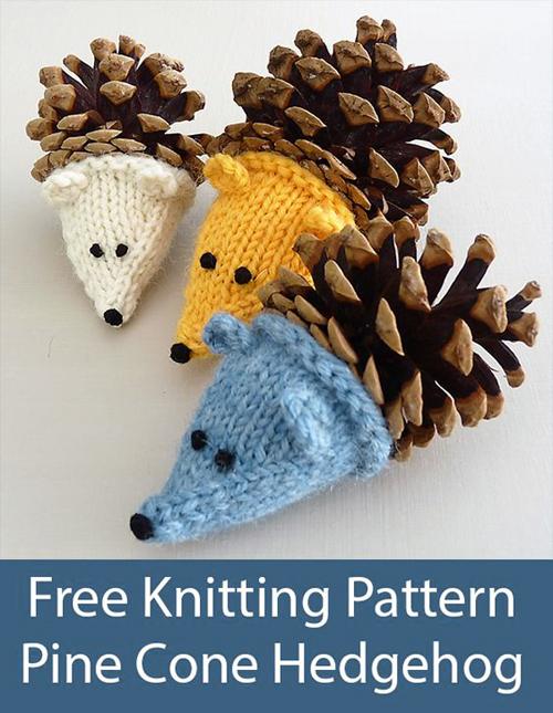 Pine Cone Hedgehog - Free Pattern