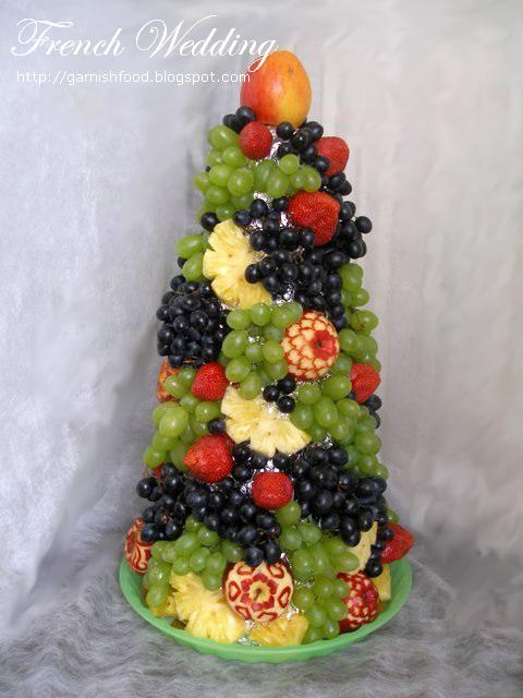 french wedding fruit tower