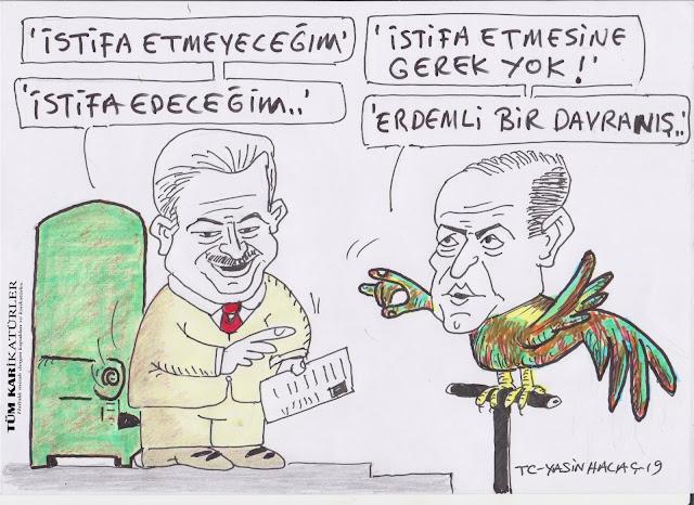 konuşan papağan karikatür