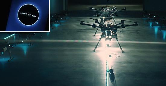 On demand personal illumination Drones 1