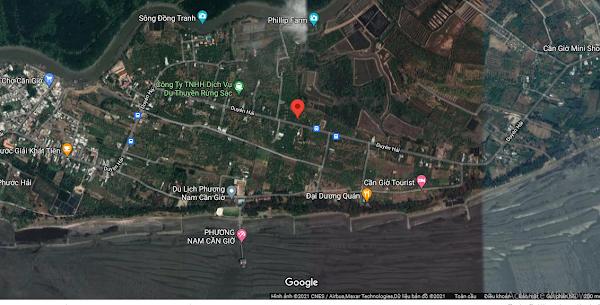 Bán 2074m2 đất đã có 300m2 đất thổ cư mặt tiền đường Duyên Hải, xã Long Hòa