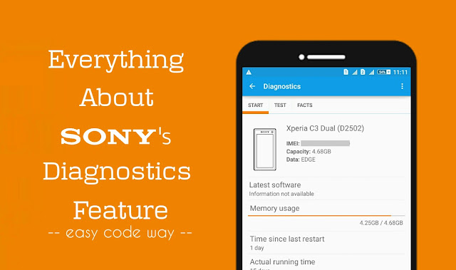Sony Diagnostics Application