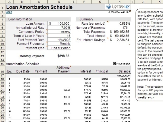 To Create Mortgage Amortization Table In Excel