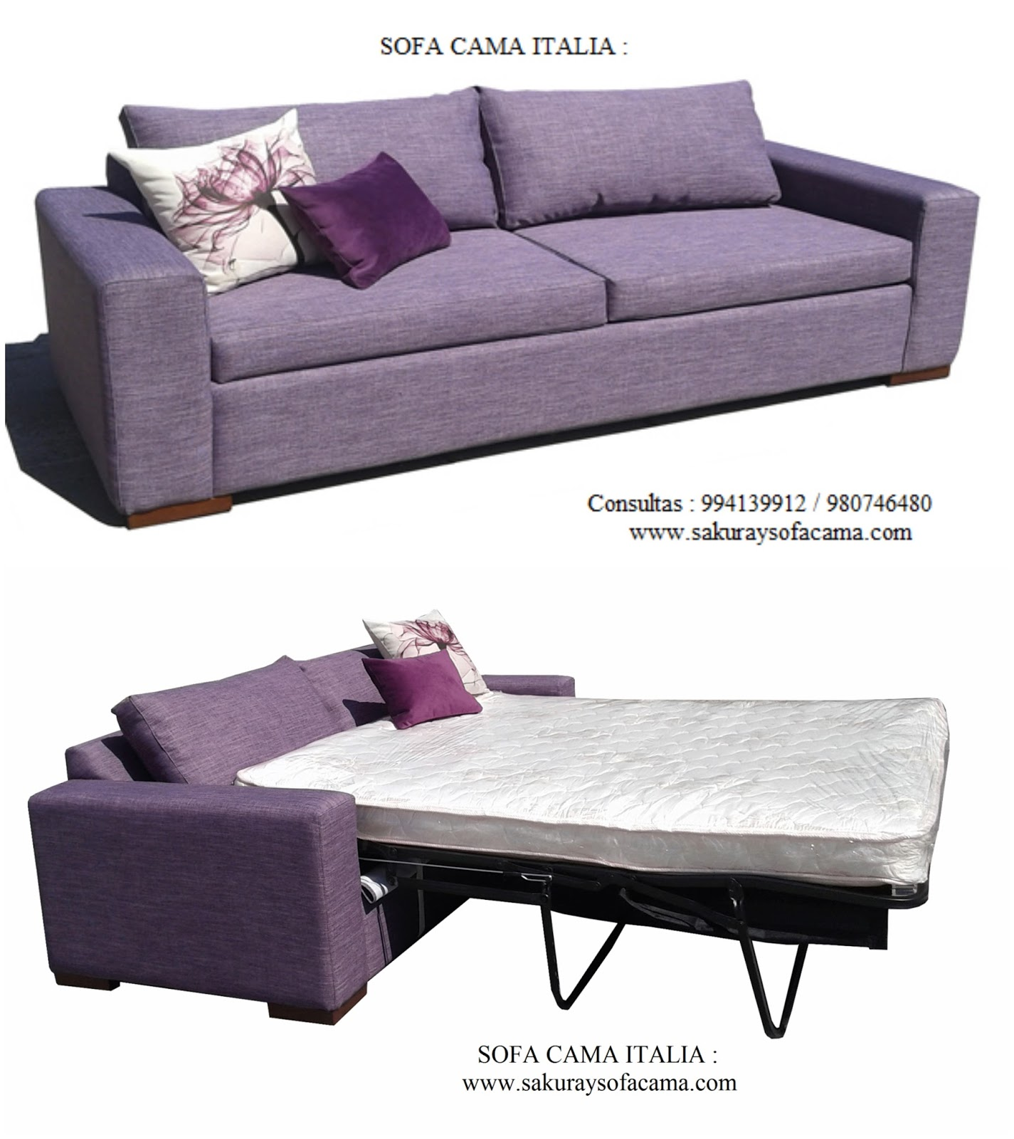 Mueble peru sakuray sofa cama italia for Mueble divan cama
